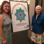2014 recipient Lauren Stevens pictured with branch member Andy Gibson