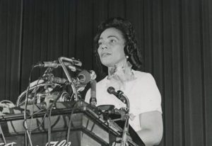 Storming the Capital - Coretta Scott King is pictured